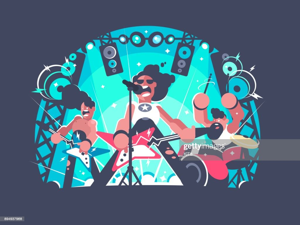 Concert of rock band