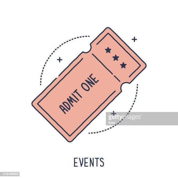 concert or movie ticket - raffle stock illustrations