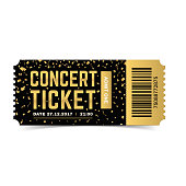 Concert ticket. Vector illustration.