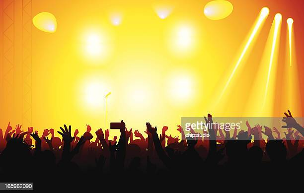 concert - applauding stock illustrations, clip art, cartoons, & icons