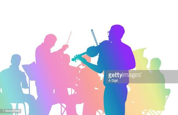 illustrations, cliparts, dessins animés et icônes de arc-en-ciel concerto - pupitre à musique