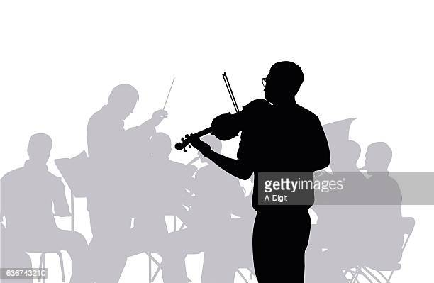 ilustraciones, imágenes clip art, dibujos animados e iconos de stock de concierto - director de orquesta