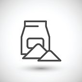 Concrete pack line icon