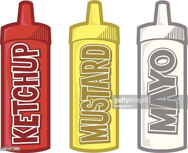 condiments - ketchup stock illustrations, clip art, cartoons, & icons