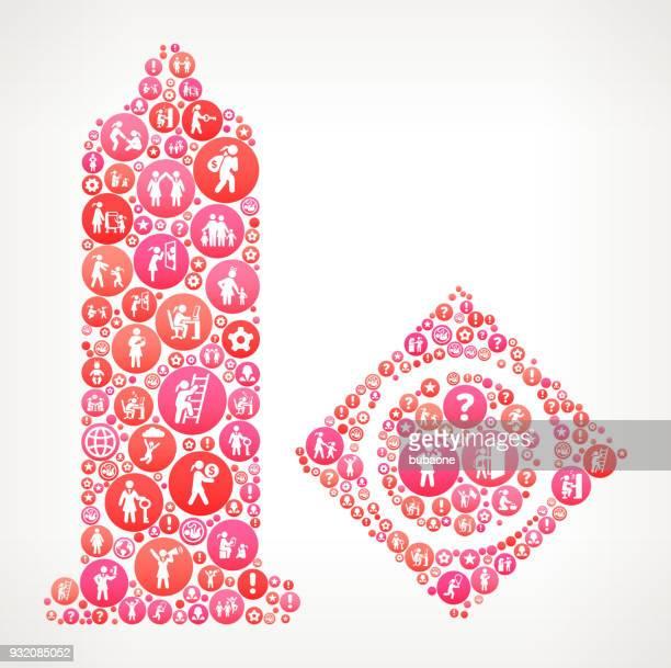 condom  women girl power icons vector background - condom stock illustrations