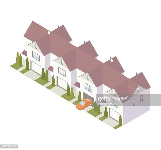 Condominium row illustration