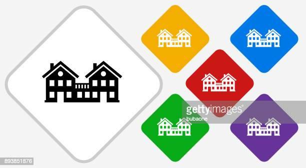 Condos Color Diamond Vector Icon