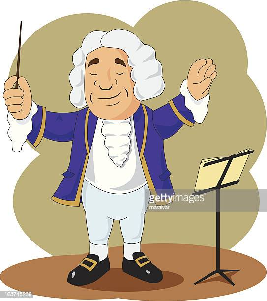 conductor cartoon - composer stock illustrations