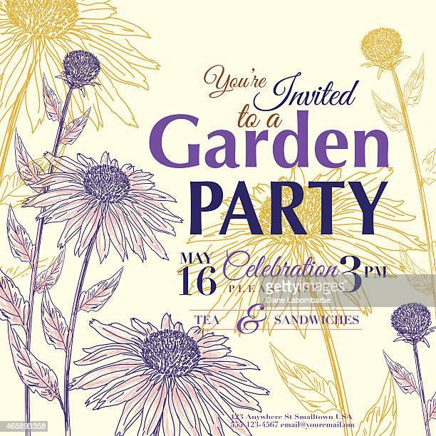 Coneflower Design Garden Party Invitation