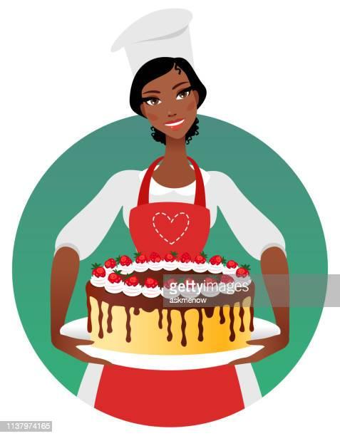 confectioner - baker occupation stock illustrations