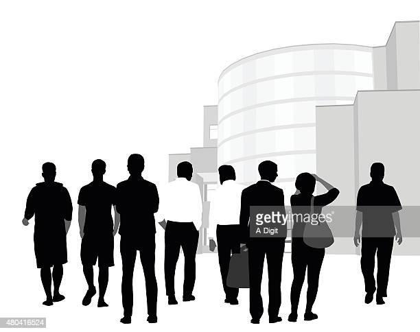 Conference Crowd In Silhouette