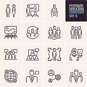 Conference icons, business people