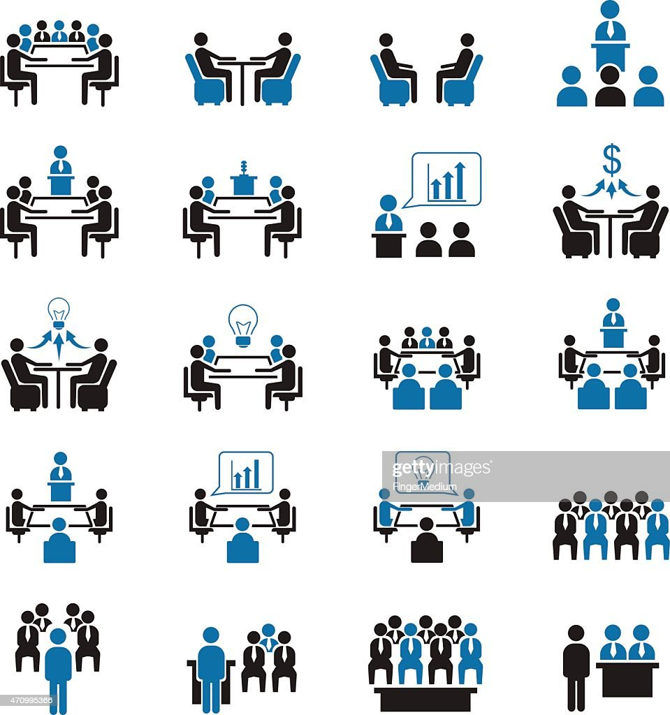 Conference icons : stock illustration