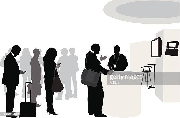 Conference Lineup Vector Silhouette