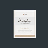Conference, Reception, Wedding, Event, Party Card Invitation Design