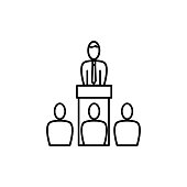 conference speech icon
