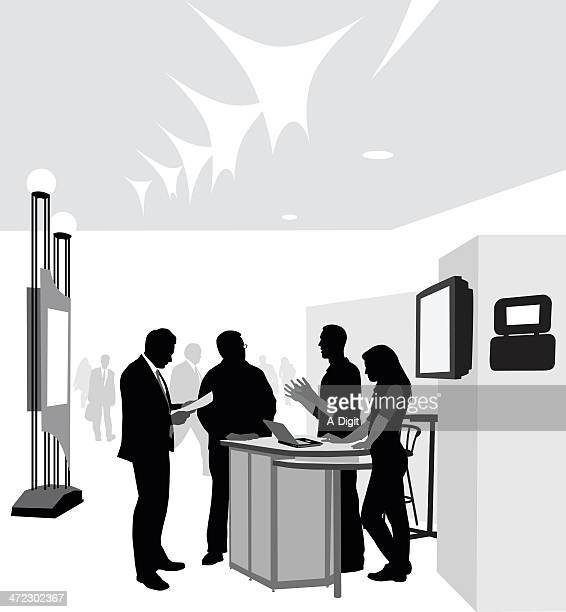 コンファレンス - キオスク点のイラスト素材/クリップアート素材/マンガ素材/アイコン素材