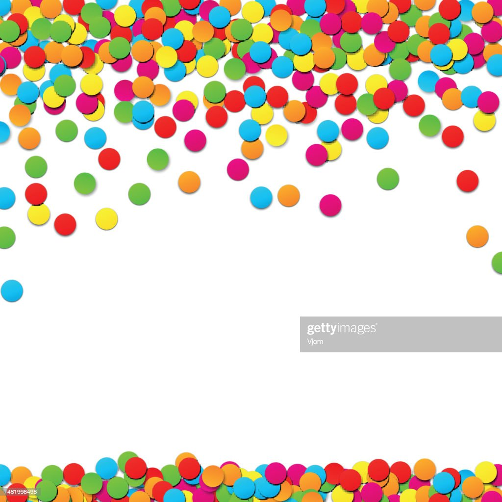 Confetti celebration background