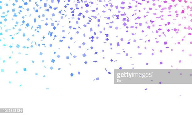 confetti celebration - purple stock illustrations