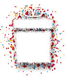 Confetti gift celebration background.