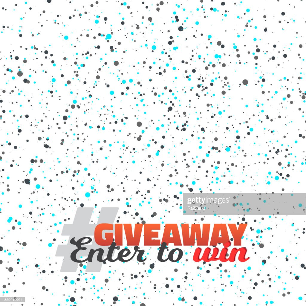 Confetti Giveaway Template. Enter to Win Prize