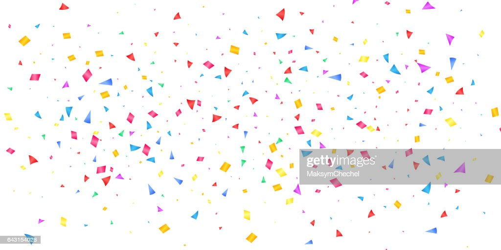 Confetti. Holiday shiny confetti isolated on white background. Colorful confetti