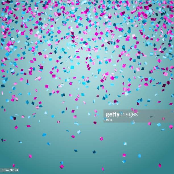 confetti on blue background - red and blue background stock illustrations