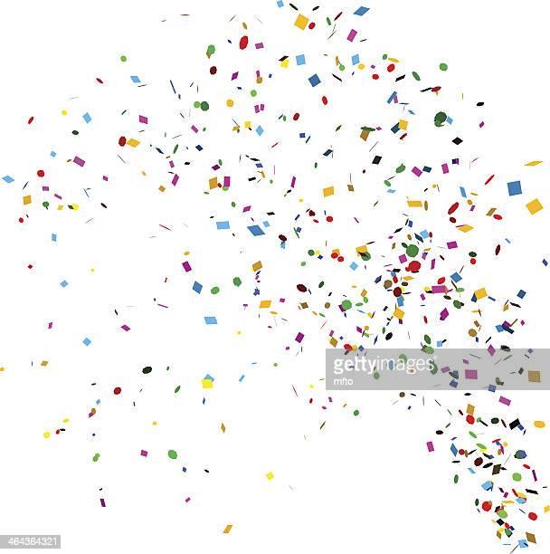 ilustraciones, imágenes clip art, dibujos animados e iconos de stock de confeti - blanco color