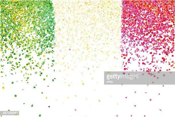 confetti - italian flag stock illustrations