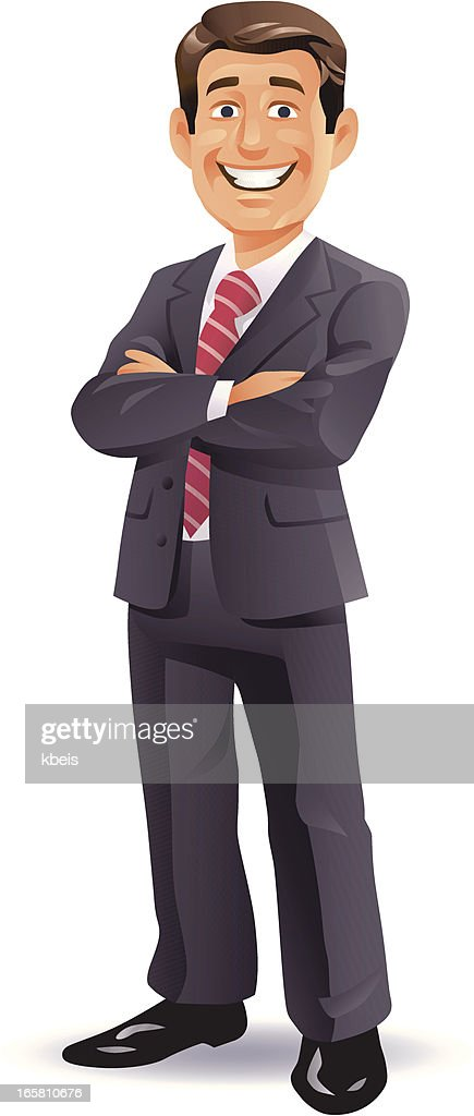 Confident Businessman : stock illustration