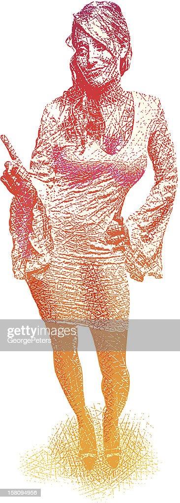 Confident Woman Gesturing : stock illustration
