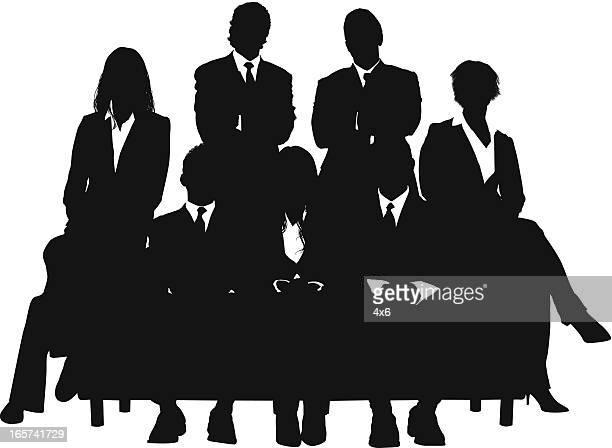 Zuversichtlich junger Geschäftsleute