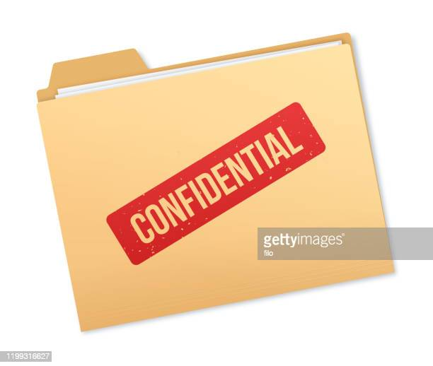 confidential file information - file stock illustrations