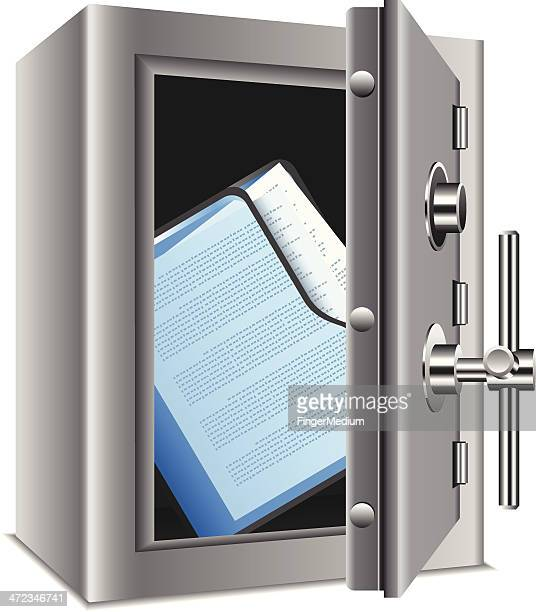 confidential files - office safety stock illustrations, clip art, cartoons, & icons