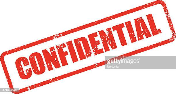 Confidential Rubber Stamp Ink Imprint Icon (Transparent Background)