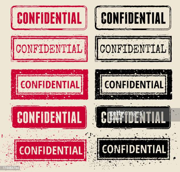 confidential vector rubber stamp collections - confidential stock illustrations, clip art, cartoons, & icons