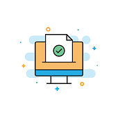 Confirmation E-Mail Flat Line Icon