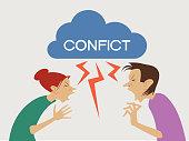 Conflict cartoon