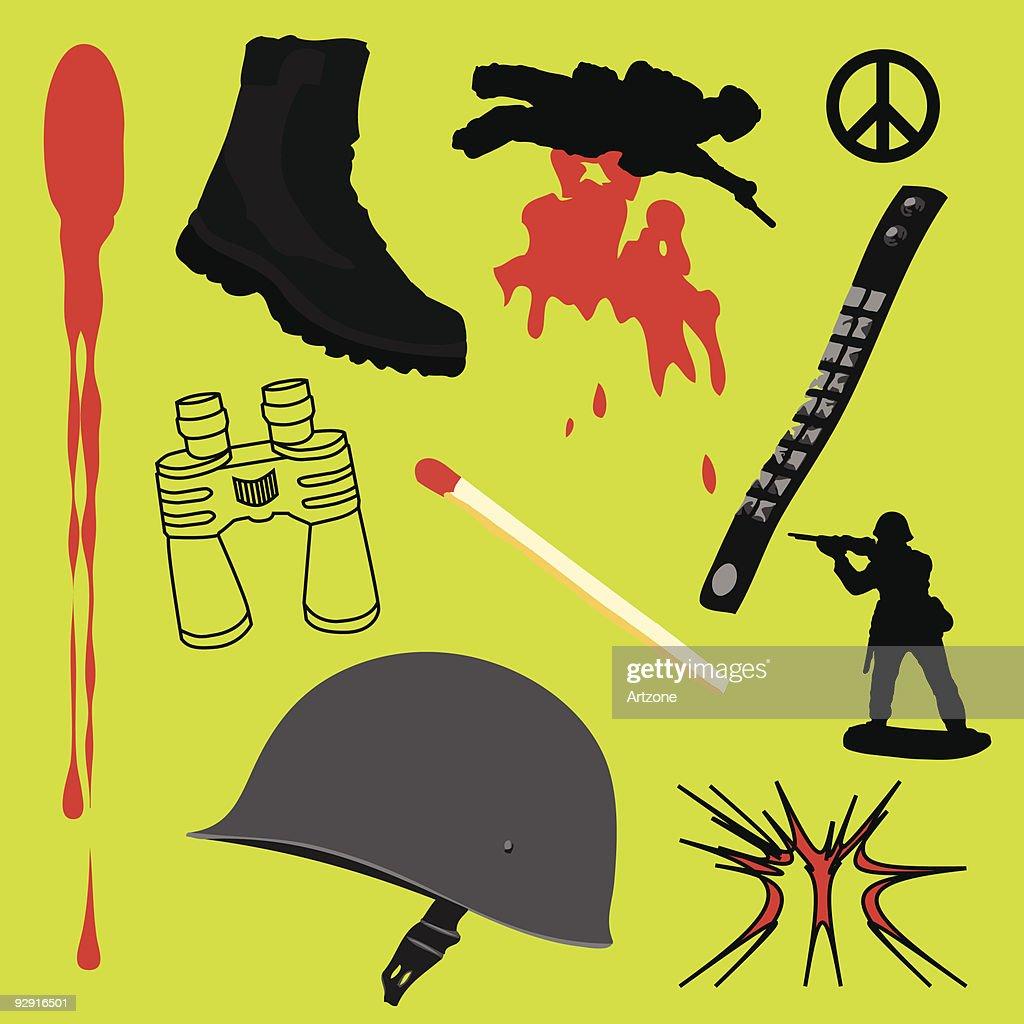 Conflict design elements (vector)