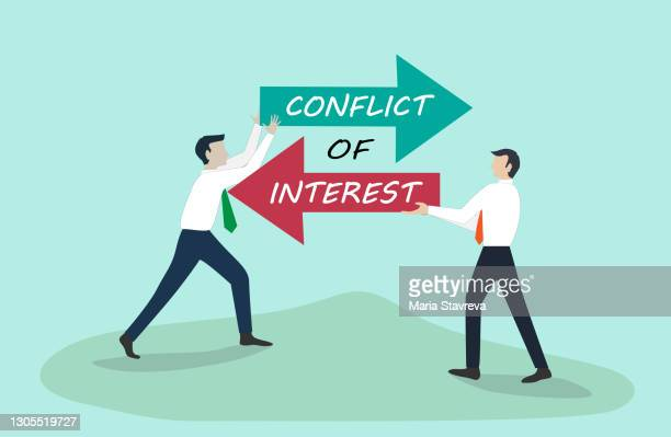 conflict of interest - interest rate stock illustrations
