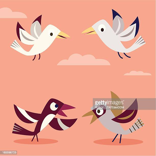 conflict resolution - magpie stock illustrations