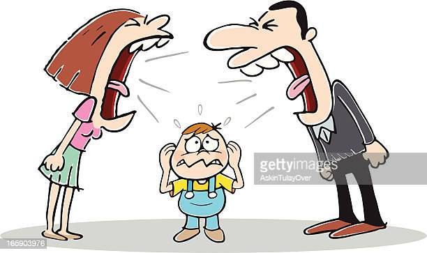 conflict - family fighting cartoon stock illustrations