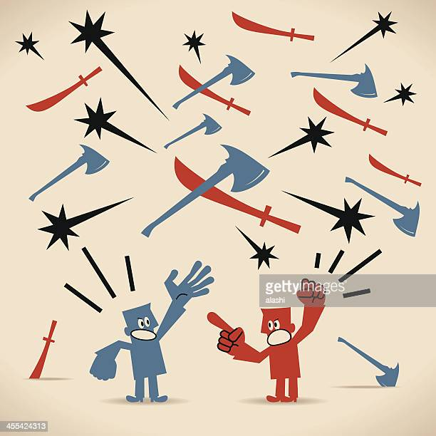 conflict - aggression stock illustrations