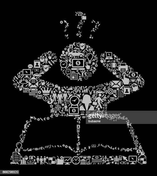 Verwirrt lernen Symbol Business und Finance Vektormuster Symbol