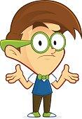 Confused nerd geek