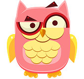 Confused Pink Owl