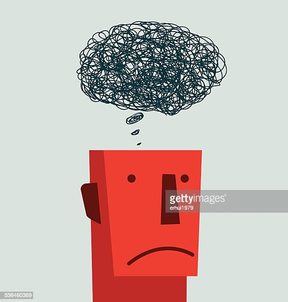 confusion - mental health stock illustrations, clip art, cartoons, & icons