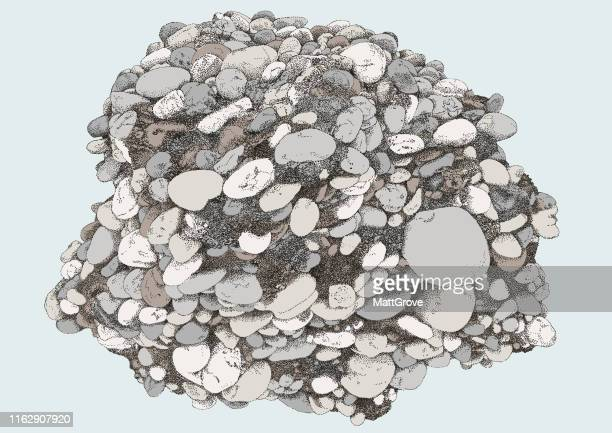 conglomorate pebbles rock cluster - sandstone stock illustrations, clip art, cartoons, & icons