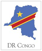 DR Congo flag map