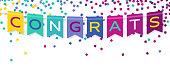 Congrats Banner Bunting Celebration Confetti
